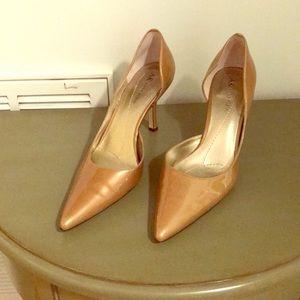 Anne Klein Gold O'Dorsay Heels